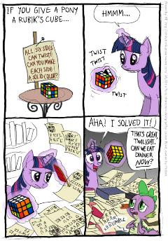 Twilight face au rubik's cube
