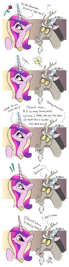 MLP FIM comic - Discord Annoy Princess Cadence