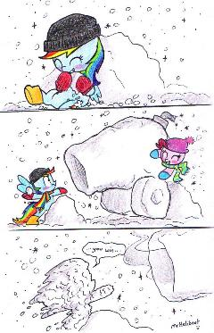 Comic - Snowball fight!