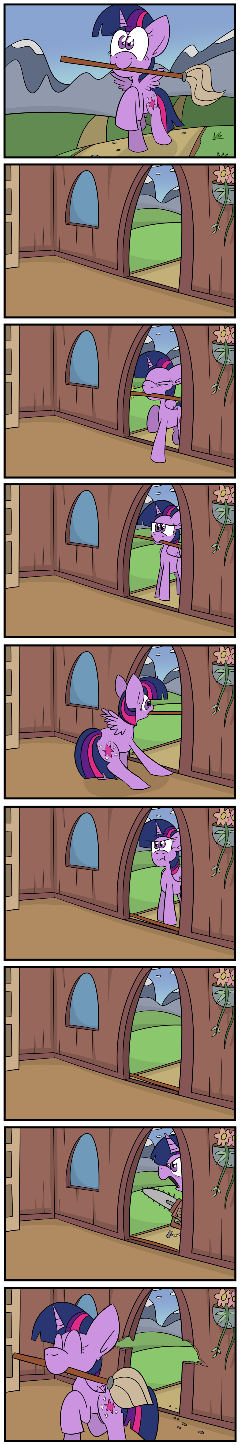 Twilight and the mop.