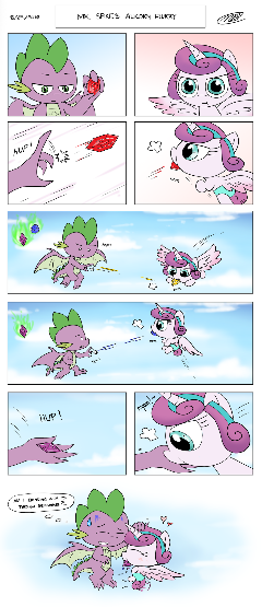 Mr. Spike's Alicorn Flurry