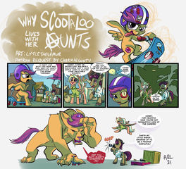 Why Scootaloo lives with her Aunts