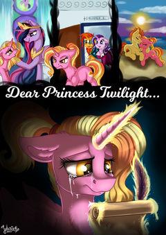 Dear Princess Twilight - Fanfic Cover [Commission]