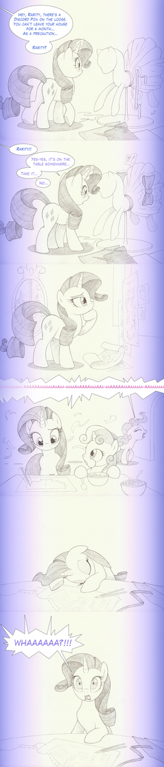 Ponies react to separation: Rarity