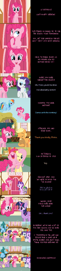Pinkie Pie Says Goodnight: Thank You