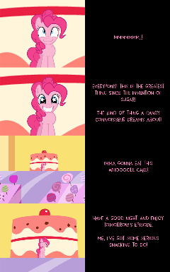 Mini Pinkie Goodnight: Let Her Eat Cake