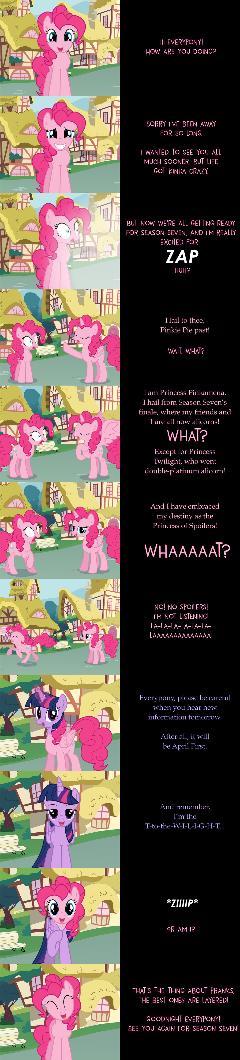 Pinkie Pie Says Goodnight: No Spoilers!