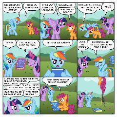 Rainbow Dash's flying school