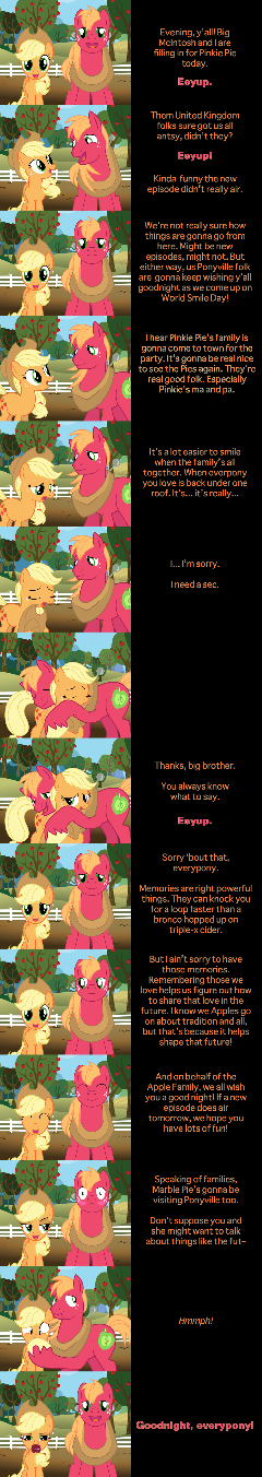 Applejack and Big Mac Say Goodnight