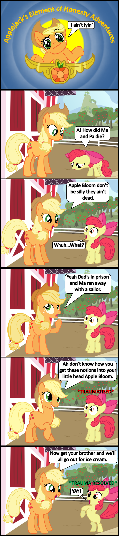 Applejack's Element of Honesty Adventures