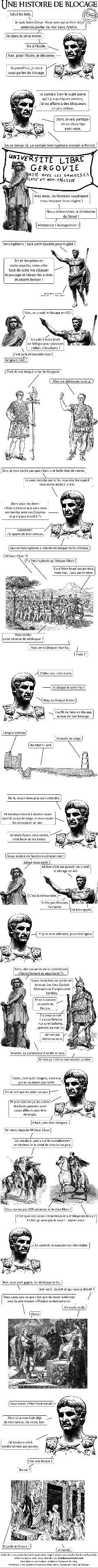 César et le blocus de la fac d'Alésia