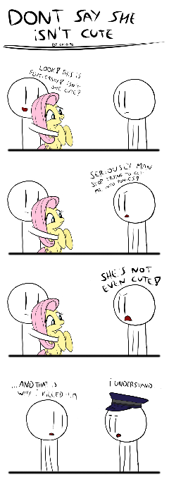 never say Fluttershy isn't cute