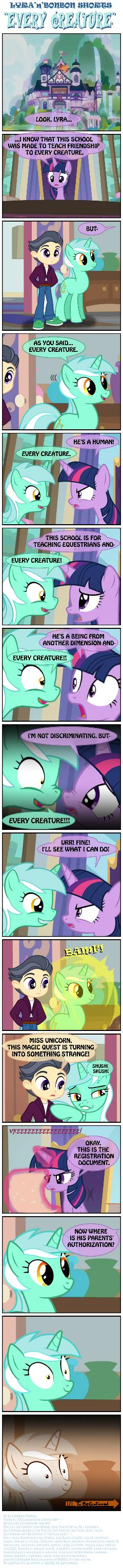 Lyra 'n' Bonbon shorts: ''EVERY CREATURE''