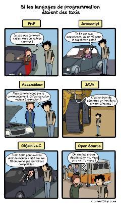 Si les langages de programmation étaient des taxis