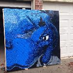 GIANT Luna Portrait Built with 19,000 Legos
