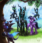 Take Five  (Cover Art for fic Changeling The Movie)
