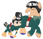 Rock lee and Gai Sensei Ponies