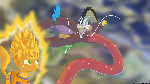 Super Saiyan Applejack vs Shenron Discord