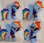 Officer Rainbow dash plushie by ERC