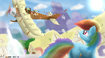 Scootaloo learns to Fly.