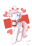 Nurse Redheart on blood donation