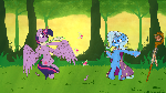 Twilight vs Trixie Wallpaper