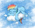 30 minute challenge: Sleeping Dashie