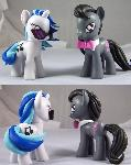 Vinyl Scratch and Octavia Custom Ponies