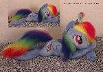Rainbow Dash pillow plush up for sale