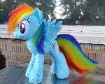 Rainbow Dash comission pony plush