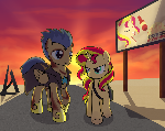 Fallout: Equestria Flash Sentry and Sunset Shimmer