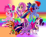 Mane 6 - rainbow powers