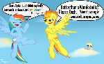 Comepetitive Pegasi meet Belly Buttons