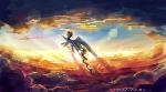 MLP rainbow dash : Golden sunset