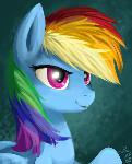 Rainbow Dash Speedpaint Portrait