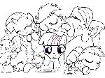 Sketch for Blanket: Filly Mane Six