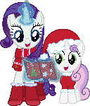 Hearth's Warming Rarity and Sweetie Belle