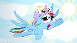 Rainbow Dash and Dinky