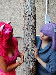 Pinkie and Maud Pie Sisters Cosplay