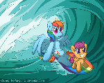 Surfing Across Equestria