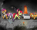 Cutie Mark Crusaders Playing Minecraft!