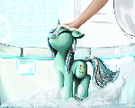 Washing the pony