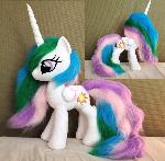 Princess Celestia handmade plush with faux fur