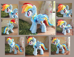 New Rainbow dash - Handmade plush - FOR SALE
