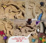 Bored at the beach Part 1: Discord sand sculpture