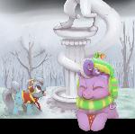Screwball's day in winter