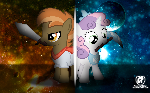 Button and Sweetie Wallpaper