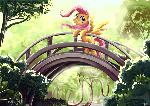 Fluttershy at the Golden Gate Park- Kallisti4