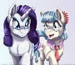 Rarity and Coco Pommel