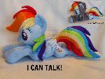 Talking Rainbow dash plushie with hoodie